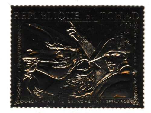 Chad 7298 NAPOLEON embossed in GOLD FOIL perf unmounted mint