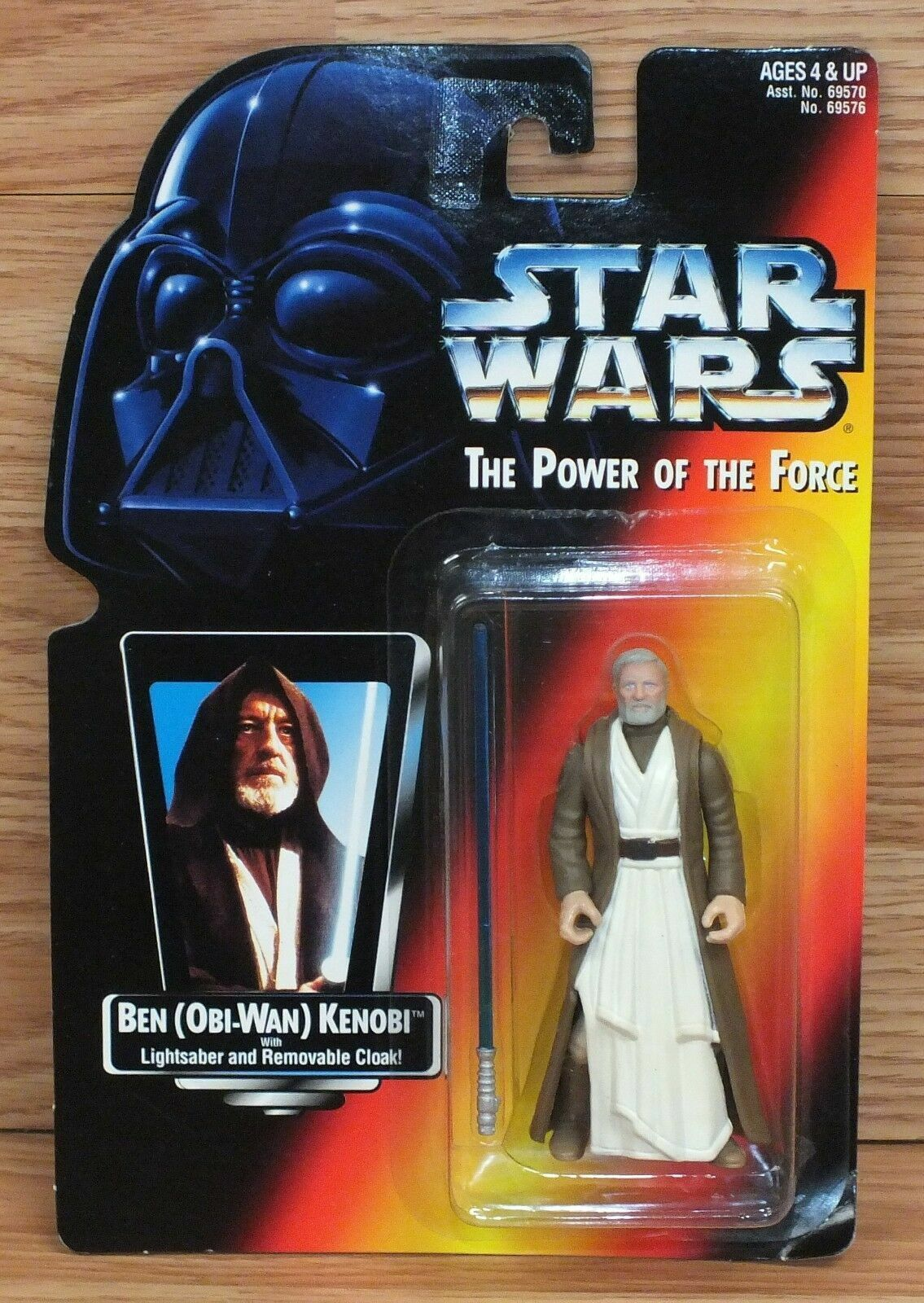 Hasbro Star Wars Power of the Force Ben Kenobi Red Card Action Figure