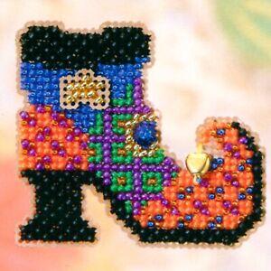 Moon Kitty Halloween Bead Ornament Kit Mill Hill 2005 Autumn Harvest