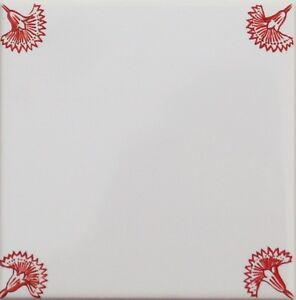 Carreaux de Delft art rouge//blanc 15x15 mosaïque avec eckdekor oeillets pour maison de campagne cuisine