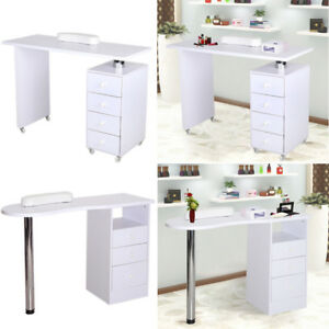 Image Is Loading Manicure Table Nail Technician Desks Beauty Station White