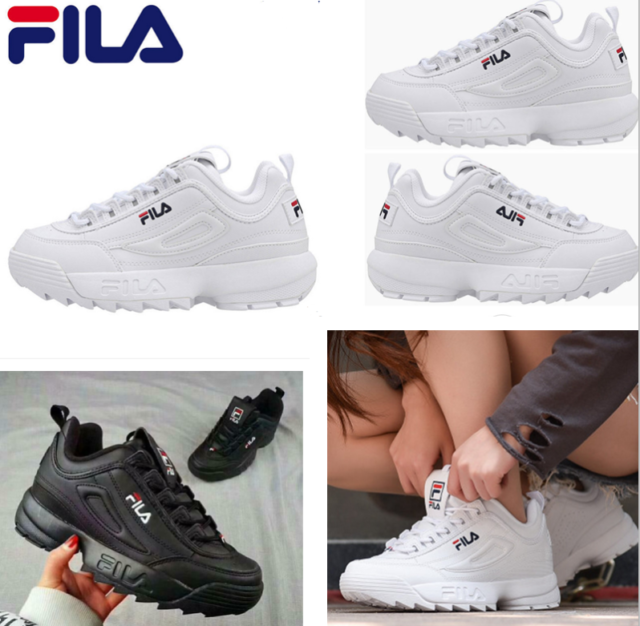 Herren Snears FILA Disruptor Low White Classic 1010262 1FG