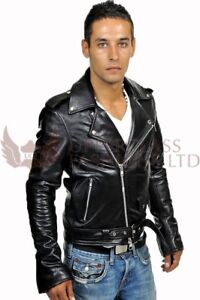 Parts & Accessories Special Section Men Genuine Black Leather Motorcycle Jacket Size 5 Xl