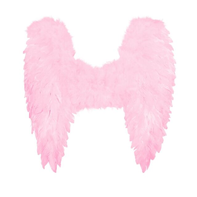 Kids Size Baby Pink Feather Angel Wings