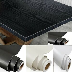 Paper Self Adhesive Contact Wood Wooden Vinyl Waterproof Home Black Wallpaper