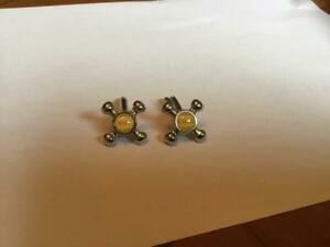 Novelty Cufflinks Hot and Cold Taps