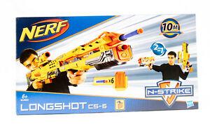 Hasbro 61983 N-Strike 2in1 Longshot CS-6 Dart Gewehr Blaster inkl. 6 Softdart