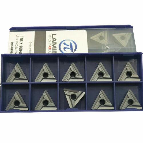 10pc TNUX160408L carbide inserts milling cutter blade grooving tool TNUX 160408L