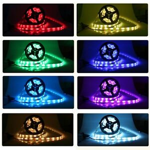 5M-12V-24V-RGB-RGBW-RGB-Warmweiss-4-in-1-LED-Streifen-Leiste-Stripe-Band-Strip