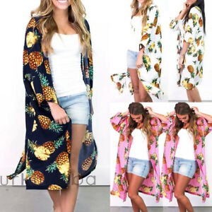 578095e89a9 La imagen se está cargando Mujer-Kimono-de-Raso-Playa-Cardigan-Bikini- Vestido-