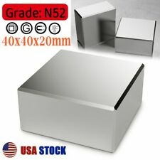 Super Strong Large Magnets N52 Neodymium Large Block 40x40x20mm Rare Earth