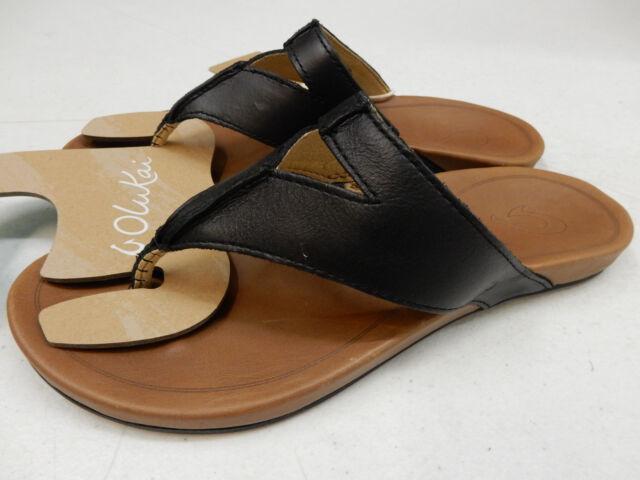 aca7710cece4 OluKai Womens Sandals Lala Black Tan Size 9 for sale online