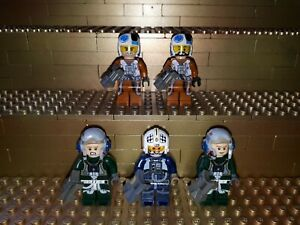5-LEGO-Star-Wars-pilotes-personnages-A-Wing-rebelles-pilote-avec-accessoires-Minifig-w24