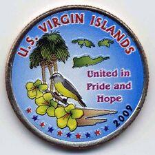2009 VIRGIN ISLANDS COLORIZED TERRITORIAL QUARTER  (P)