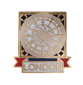 London Big Ben Clock Face Pin Badge