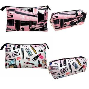 W7-Make-Up-Toiletry-Bags-Gorgeous-Pink-Gift-Girls-Large-amp-Small-choose-size