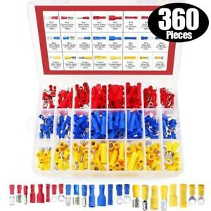 360PCS-Electrical-Insulated-Ring-Wire-Crimp-amp-Connector-Terminals-Assortment-Kit