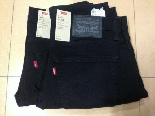 Levi/'s 511 Men/'s Slim FIT Jeans Black W:28 to 40 04511-2694 L:29 to 36