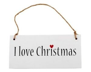 Holzschild-I-love-Christmas-Schild-Holz-IB-Laursen