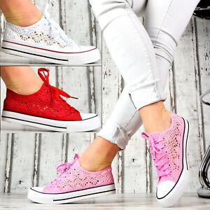 Chaussures-Femmes-Neuves-Sneaker-Low-Chaussures-De-Sport-Chaussures-Ballerine-Chaussures-De-Loisirs