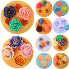 Flower Rose Silicone Mould Clay Candy Cake Chocolate Mold Decor Fondant Round