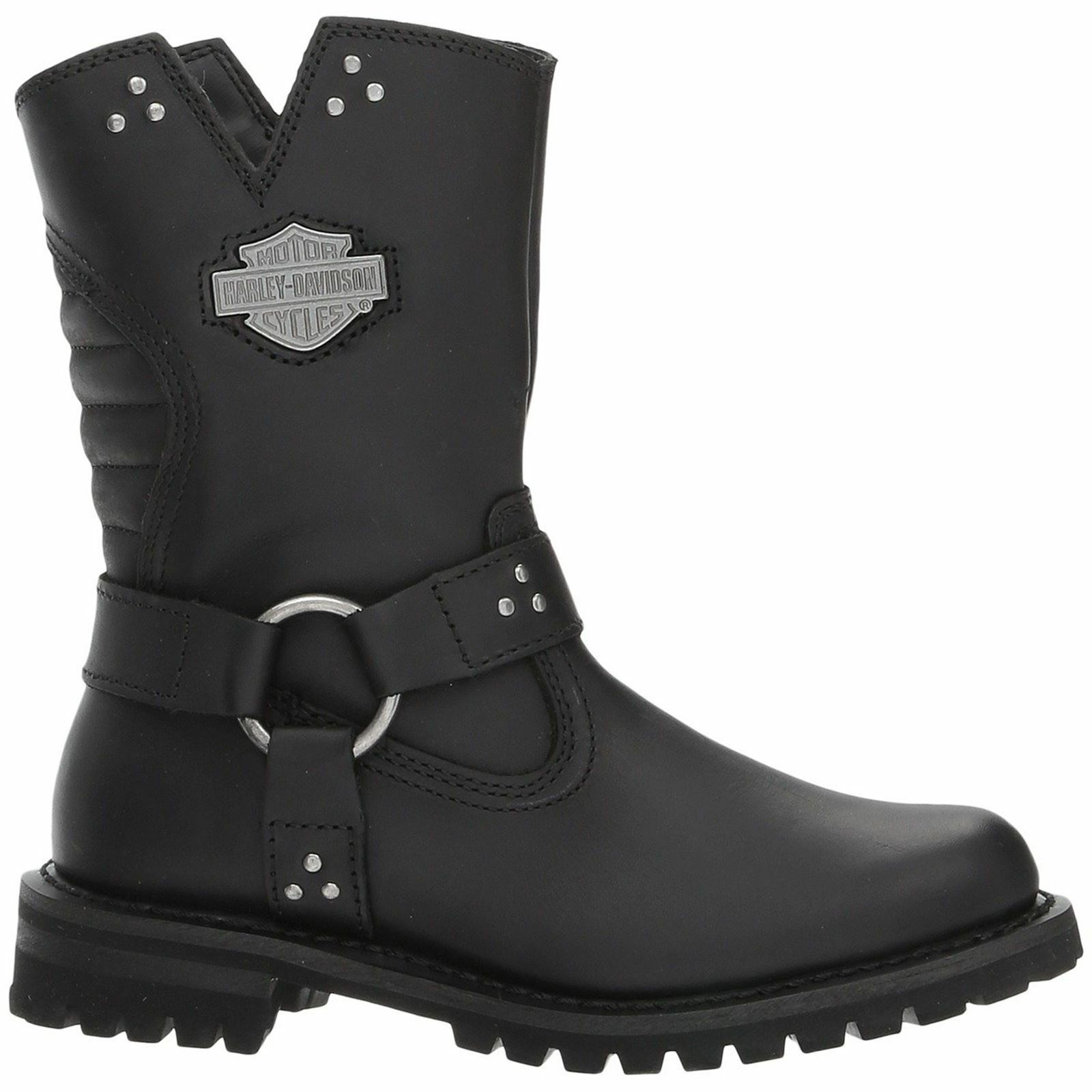 Grandes zapatos con descuento Harley Davidson Barford Black Womens Leather Zip-up Riding Biker Boots