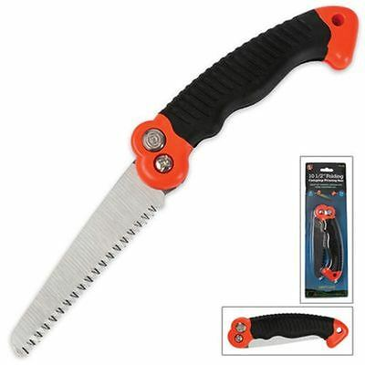 "NEW! 10.5"" Folding Saw for Camping / Survival / Emergency w/ Safety Lock"