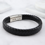 Vienna-Brown-Black-Leather-amp-Stainless-Steel-Mens-Personalised-Engraved-Bracelet thumbnail 7