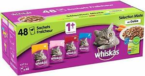 Whiskas-Selection-Mixte-en-Gelee-Nourriture-humide-chat-adulte-Aliment-chaton