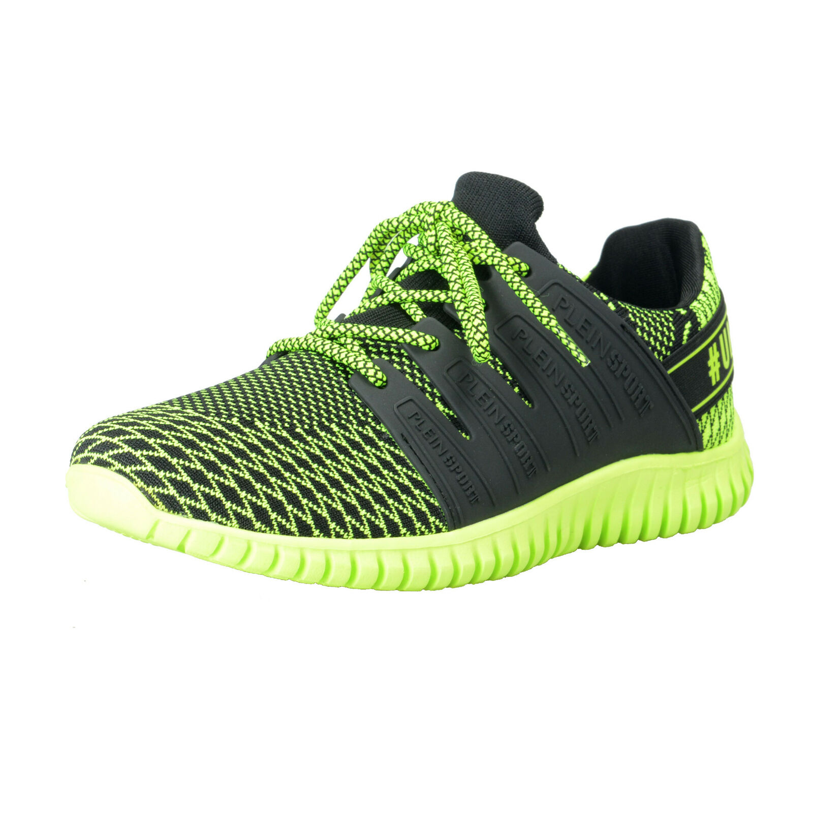 Plein Sport  Mason  Yellow Runner Fashion Sneakers shoes Sz 8 8.5 10 11