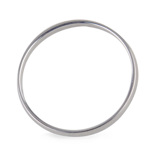 Unisex 2mm Plain Silver Stainless Steel Ring Smooth Wedding Comfortable Jewelry