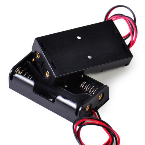 50X Batteriehalter 2x1.5V AA Batterie Halter Kasten Battery Holder Box Case Wire