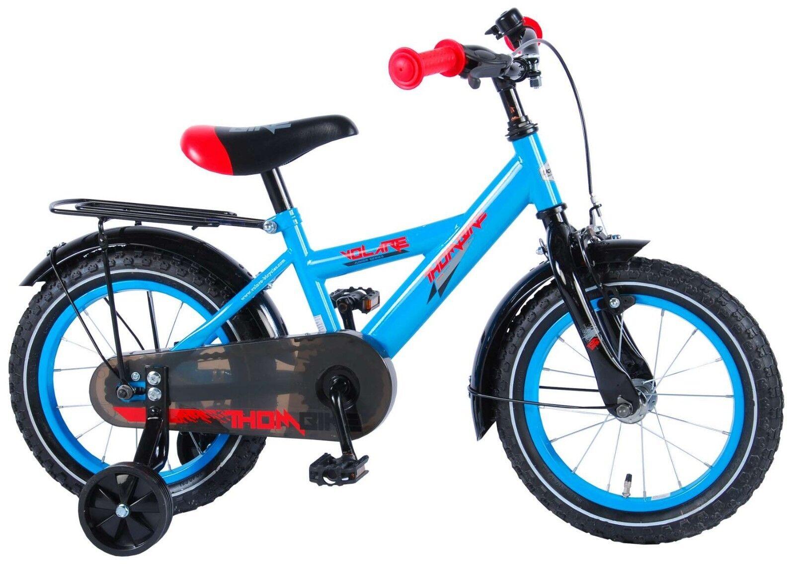 14 Zoll Fahrrad  Rücktritt Stützräder Kinderfahrrad Jungen Blau Rot Kinder
