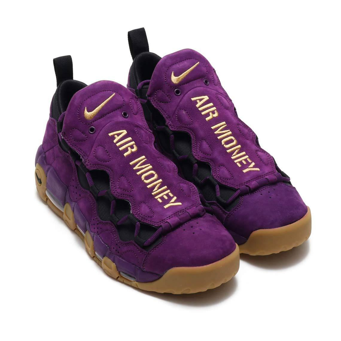 {AR5401-500} Men's Nike Air More Money Purple Metallic gold-Black NEW