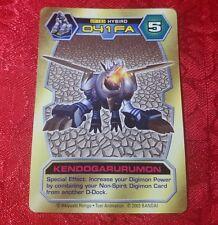 BANDAI DIGIMON CARD DT-183 KENDOGARURUMON Toy PROMO text D-Tector RARE