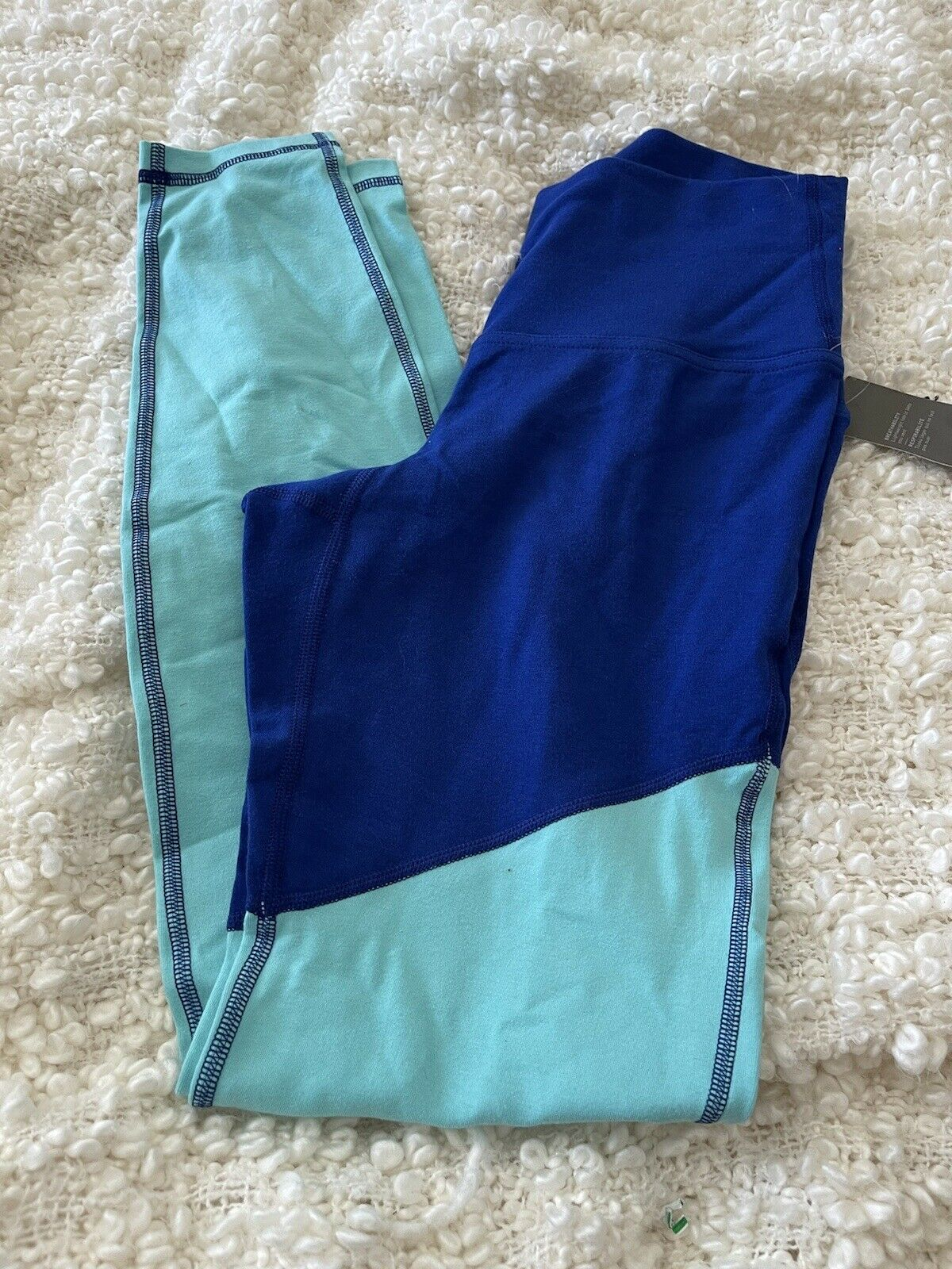 Old Navy Active M Go Dry Yoga Electric Navy Blue Leggings High Rise 80s Aerobic