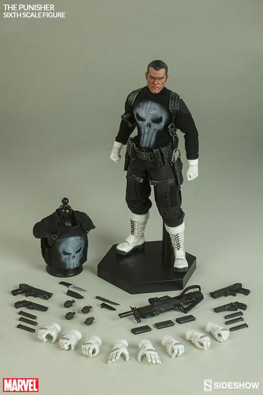 MARVEL COMICS  the PUNISHER ( Frank Castle )1 6 Acción Figura 12  SIDESHOW