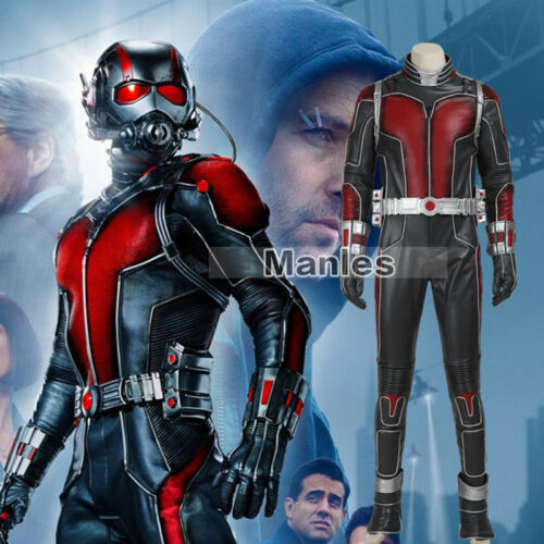 Ant Man Scott Lang Cosplay Halloween Fancy Dress Costume Men Leather Outfits