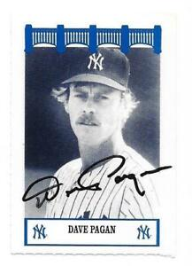 DAVE PAGAN 1992 THE WIZ YANKEES 70'S AUTOGRAPHED SIGNED