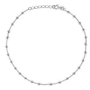 Jewelry & Watches Sterlingsilber Glänzend Perlen Perle Link Kette Fußkette Fußreifen 22.9-25.4cm Latest Technology