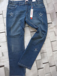 Sheego-Jeans-Ladies-Stretch-with-Stars-Size-42-to-50-Blue-plus-Size-918-New
