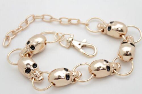 Women Boot Bracelet Gold Metal Chains Bling Anklet Charms Heels Skeleton Skulls