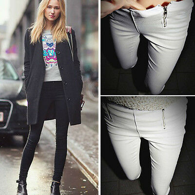Women Pencil Pants High Waisted Slim Stretch Fashion Casual Leggings Trousers