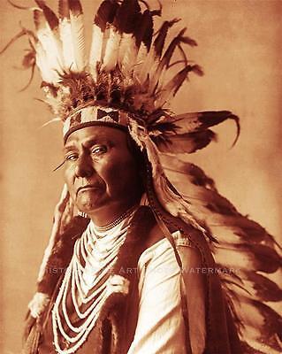 NEZ PERCE INDIAN CHIEF JOSEPH VINTAGE PHOTO NATIVE AMERICAN OLD WEST #21362