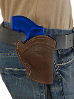 Barsony Brown Leather Western Style Holster For Colt 22 38 357 Snub Nose 2
