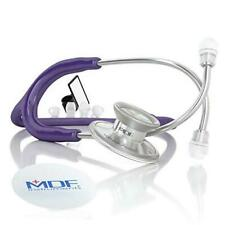 Mdf Acoustica Lightweight Stethoscope Adult Dual Head Free Parts For Purple