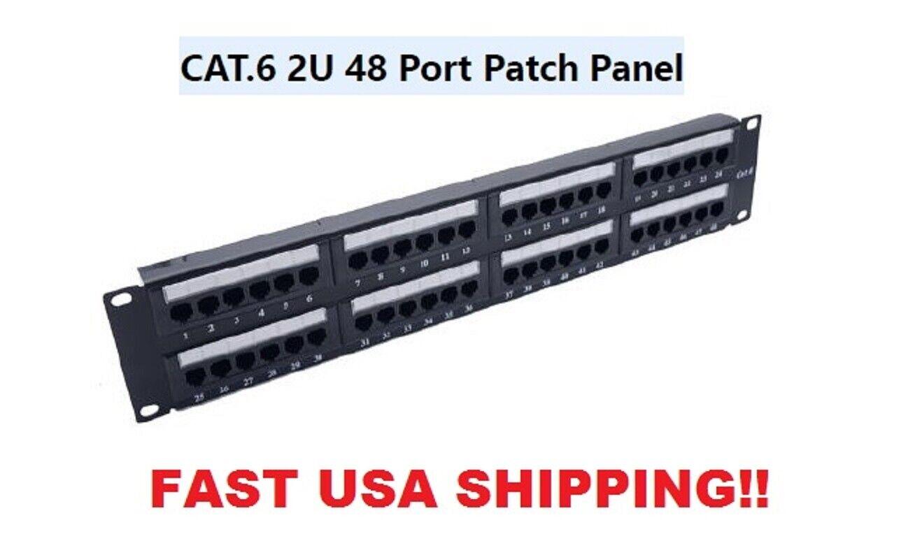 Amp/tyco 1375015-2 Netconnect 48-port Cat 6 2u Patch Panel for sale online  | eBayeBay