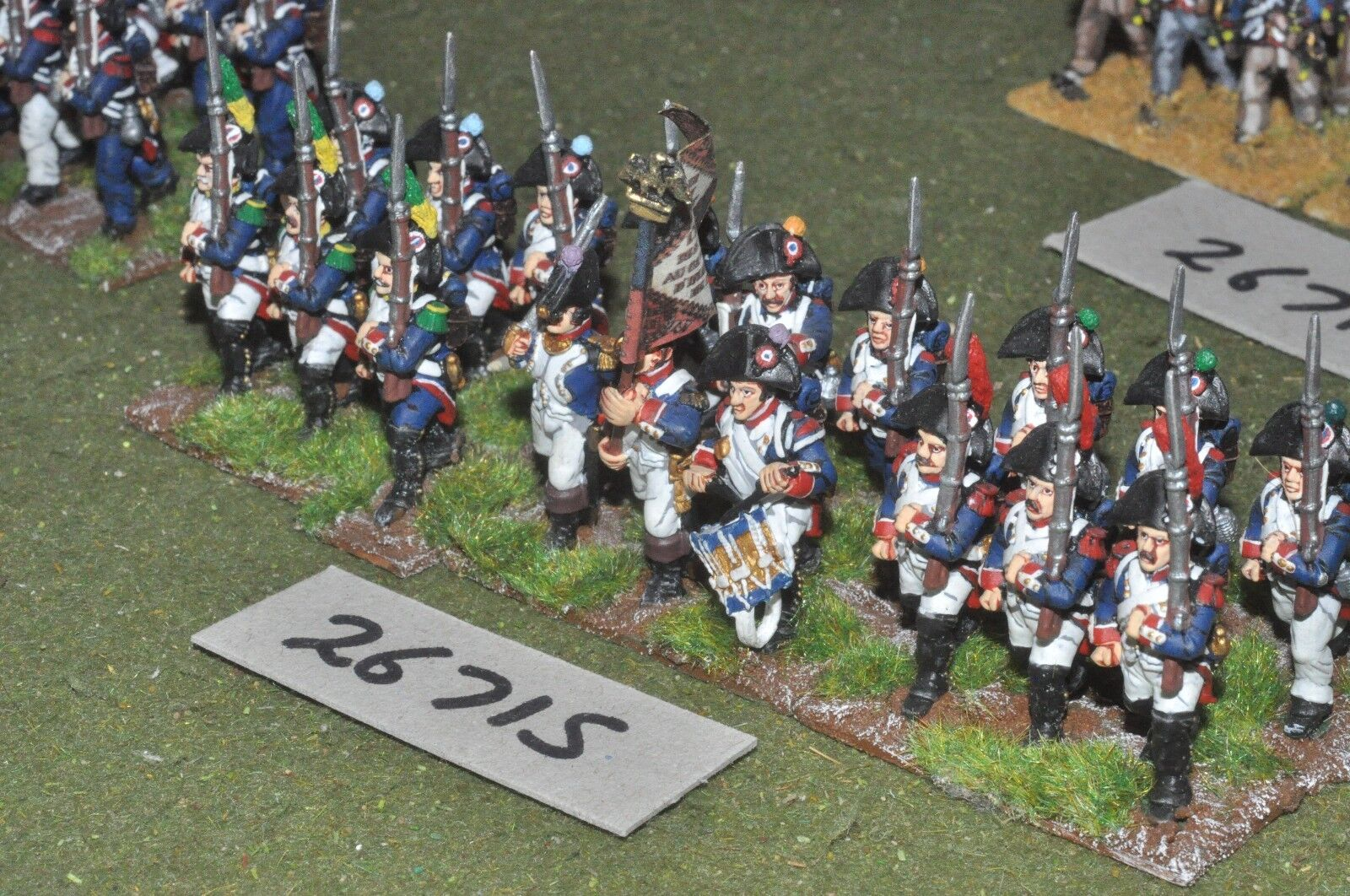 25mm napoleonic   french - line 18 figures - inf (26715)