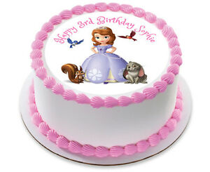 SOFIA THE FIRST PERSONALIZED BIRTHDAY CAKE TOPPER EDIBLE ICING SUGAR