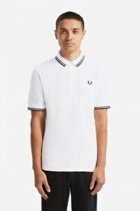 Fred-Perry-Made-In-Japan-Polo-Shirt-M102-Twin-Tipped-White-Black